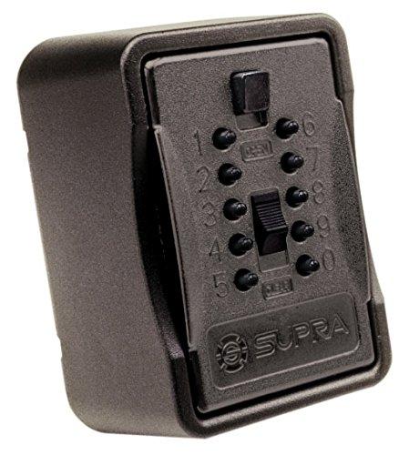 Kidde Supra - Caja guarda llaves de gran capacidad KeySafe BigBox con cerradura de combinació n - Color negro - Incluye cubierta protectora S7