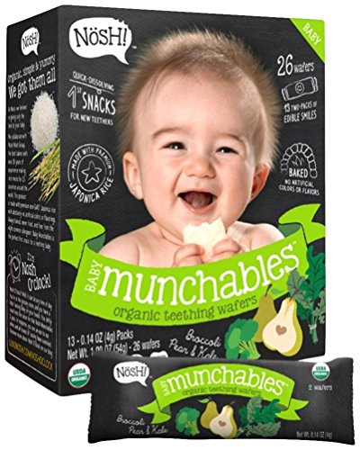 Nosh Baby Munchables Broccoli, Pear and Kale, Broccoli, 1.9 Ounce