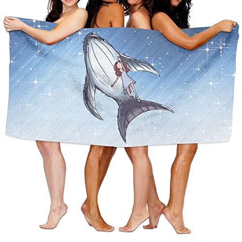 (FOOOKL Bath Towel Fish Girl Designed Quick Dry Large Swim Beach Towels)