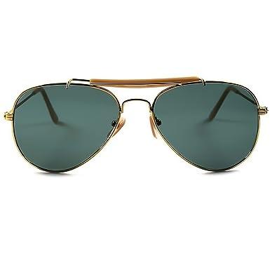 Sonnenbrille AVIATOR Outdoorsman Männer Frauen Unisex: KISS ®-VINTAGE Celebrity Sonnenbrillen - CURL / Gold HGaEcoPW