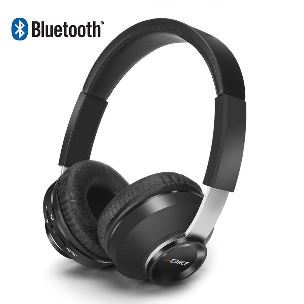 Bluetooth Over Ear Headphones,Wireless Headphones with Microphone, Volume Control,Soft Memory-Protein Earmuffs, Hi-Fi Music Headset for PC/Cell Phones/TV