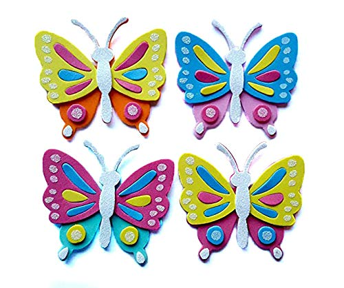 (Nikki's Knick Knacks Foam Butterfly Craft Kit- Makes 24 )
