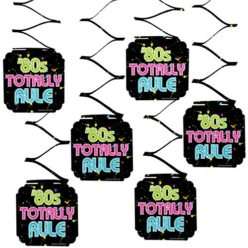 Big Dot of Happiness 80's Retro - Totally 1980s Party Hanging Decorations - 6 Count -