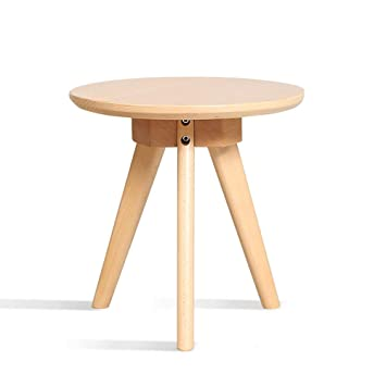 Swell Amazon Com Axdwfd Solid Wood Small Round Table Sofa Side Inzonedesignstudio Interior Chair Design Inzonedesignstudiocom