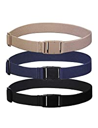 Womens Invisible Belt Elastic Adjustable - No Show Web Belts For Women (Khaki/Navy blue/Black)