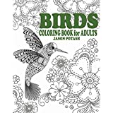 Birds Coloring Book For Adults (The Stress Relieving Adult Coloring Pages)
