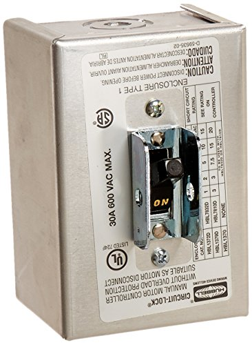 Hubbell HBL1379D 3 Pole Disconnect Switch with NEMA 1 Enc...