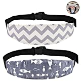 Accmor Baby Car Seat Head Support Band Strap 2 Pack for Car Seats Stroller Headrest Sleeping Neck Relief Head Strap for Toddler Child Kids Infant(Grey)