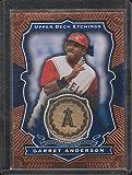 2004 UD Etchings Garret Anderson Angels Game Used Bat Insert Baseball Card #BE-GR