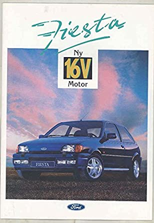 Amazon.com: 1992 Ford Fiesta 16V Brochure Sweden: Entertainment Collectibles