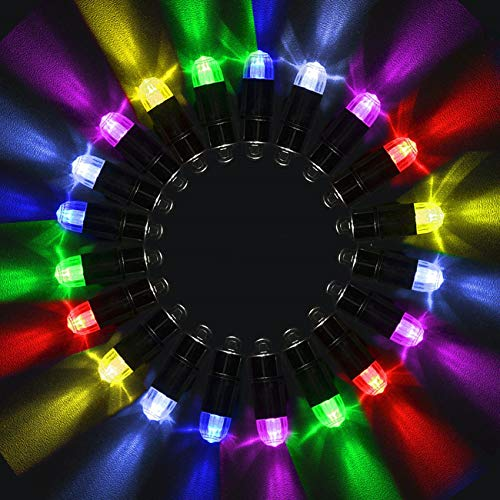 (Magnoloran Led Balloon Lights, 20 Pack Multicolor LED Mini Submersible Waterproof Blinking Party Lights for Paper Lantern Balloon Wedding Halloween Christmas Party Decoration Centerpieces)