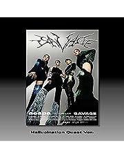 AESPA [ SAVAGE ] 1st Mini Album HALLUCINATION QUEST(PHOTOBOOK) Ver. 1ea CD+56p Photo Book+4ea Folded Poster(On pack)+1ea Tattoo Sticker+etc+1ea AESPA STORE GIFT CARD