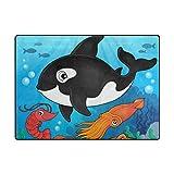 Vantaso Soft Foam Area Rugs Ocean Shark Octopus Non Slip Play Mats for Kids Boys Girls Playing Room Living Room 80x58 inch