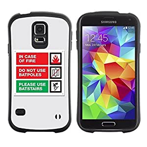 Hybrid Anti-Shock Bumper Case for Samsung Galaxy S5 / Emergency Message