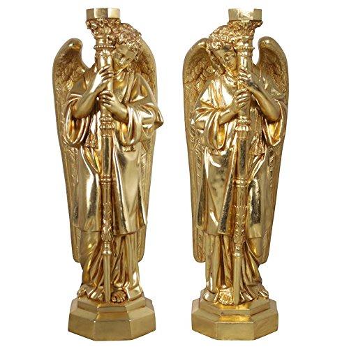 Padova Accent (Design Toscano Padova Golden Guardian Angel Sculpture: Set of Two, Gold)