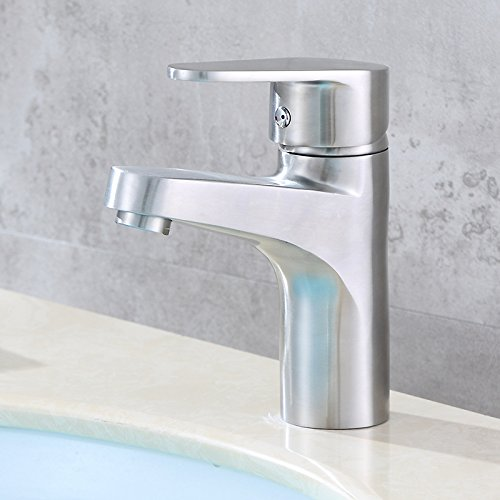 Guoke Touch On Kitchen Sink Faucets Faucet Bathtub, Bathroom, Kitchen Faucet Stainless Steel Basin_304 Imperial Hot And Cold Basin Bathroom Basin Mixer Taps Of The Hotel, King Single Hole -
