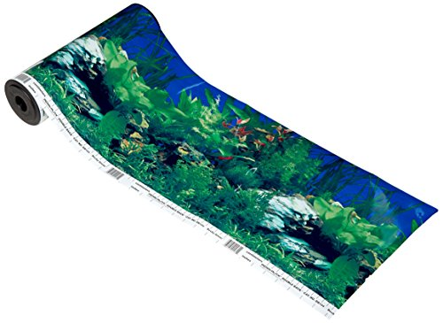 Penn Plax Rocky Green/Lush Aquarium Background by Penn Plax