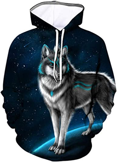 Camisa con Capucha De Otoño E Invierno Suéter Casual con Capucha Y Estampado Animal 3D Digital Navidad: Amazon.es: Ropa y accesorios