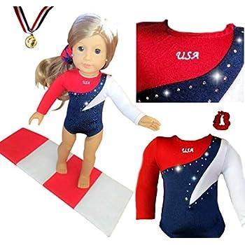 46bd93d1c Amazon.com  Doll Connections VALENTINES DAY Gymnastics Leotard ...