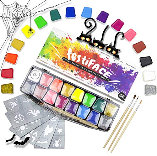 Face Painting For Halloween Witches - Halloween Face Paint Kit for Kids