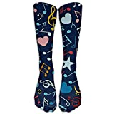 Cute Music Note Mens Socks Dress Cycling Boot Socks