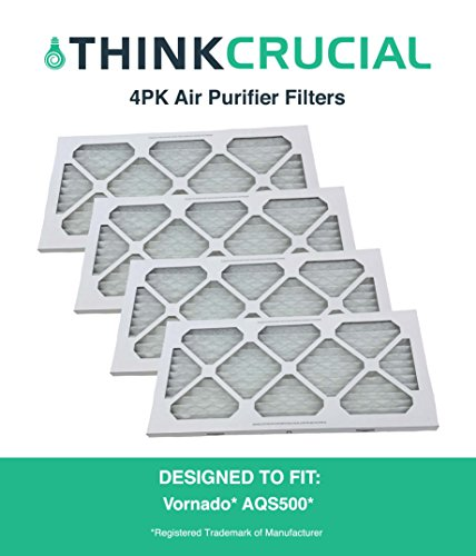 4PK Compatible Think Crucial Replacement Filters Fit Vornado Air Purifier Filter For Model AQS500