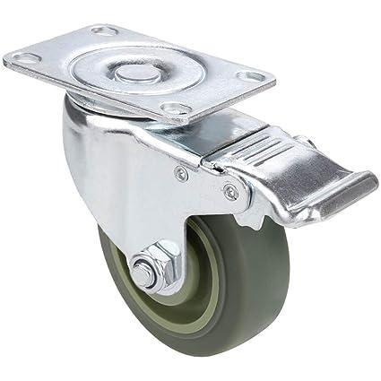 Voluker 4 x100mm ruedas muebles,ruedas giratorias con freno ,Capacidad de carga máxima 400