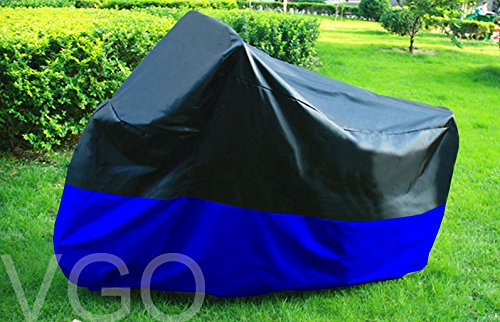 Motorcycle Cover For Honda Goldwing 1500 1800 Touring UV Dust Prevention XXL Black Blue -