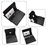 JoyiQi® black leather and hard plastic case with DETACHABLE REMOVABLE wireless bluetooth ABS keyboard and 360 degree rotating rotatable function for Apple iPad mini built-in magnet for sleep/wake feature