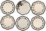 Melange 36-Piece 100% Melamine Dinner Plate Set (Winterberry Collection ) | Shatter-Proof and Chip-Resistant Melamine Dinner Plates