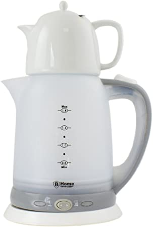Théière électrique avec verseuse en céramique 1,8 l Bouilloire Samovar 2200 W