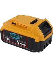 Sankett High Capacity 18V 5.0Ah XR Li-ion Compact Battery for DeWalt DCB184 DCB184B-XJ DCB180 DCB183 DCB183-XJ DCB182 DCB182-XJ DCB181 DCB181-XJ DCB185-XE DCB200 DCB201 DCB204-2 DCB205-2 18V Battery
