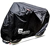 Session Industries Bike Moped Storage Cover for outdoor storage comes with FREE lock UV sun protection Large or XL bicycles 29er Mountain Road Scooter Hybrid Fat Cruiser Bikes 50cc