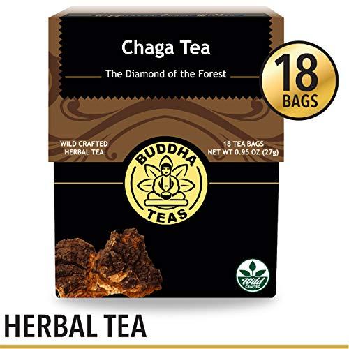 Wild-Harvested Chaga Tea, 18 Bleach-Free Tea Bags - Caffeine Free, Antioxidant and Biological Response Modifier Tea, Naturally Invigorating Superfood Tea, No - Boxes Birch Bark