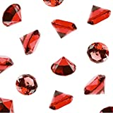 Anrox Supply Co. Acrylic Color Faux Round Diamond Crystals Treasure Gems for Table Scatters, Vase Fillers, Event, Wedding, Birthday Decoration Favor, Arts & Crafts (1 Pound, 240 Pieces) (Red)