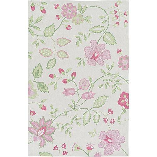 Pastel Acrylic Rug - Surya Skidaddle 3' x 5' Area Rug, 3' x 5', Pastel Pink