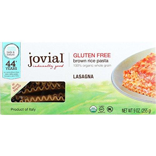 Jovial Foods Organic Gluten Free Brown Rice Pasta, Lasagna, 9 Ounce (No Organic Sauce Salt)