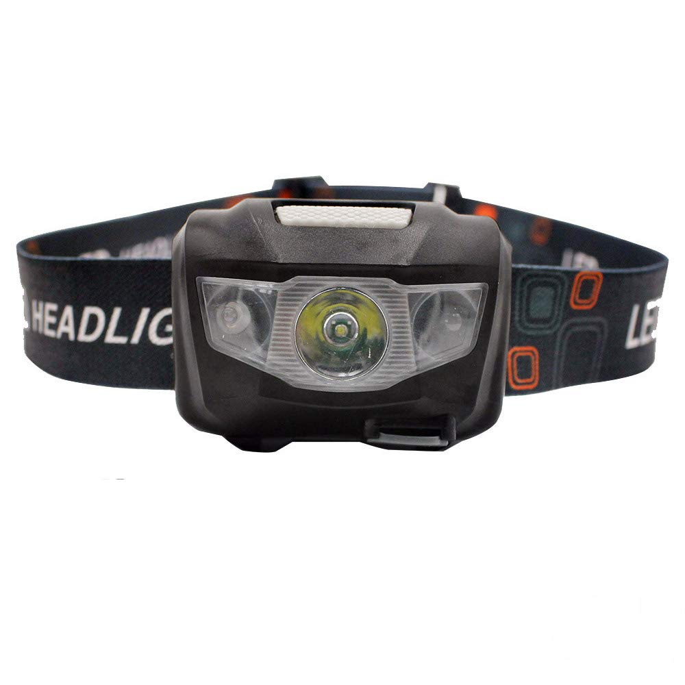 led Sensor Headlamp usb chargeable,walking, Camping,Fishing,Hunting,Home Working (black 1 rechargeable)