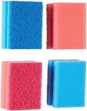Parex Non Scratch Sponge, 4 Pieces - Pink and Blue