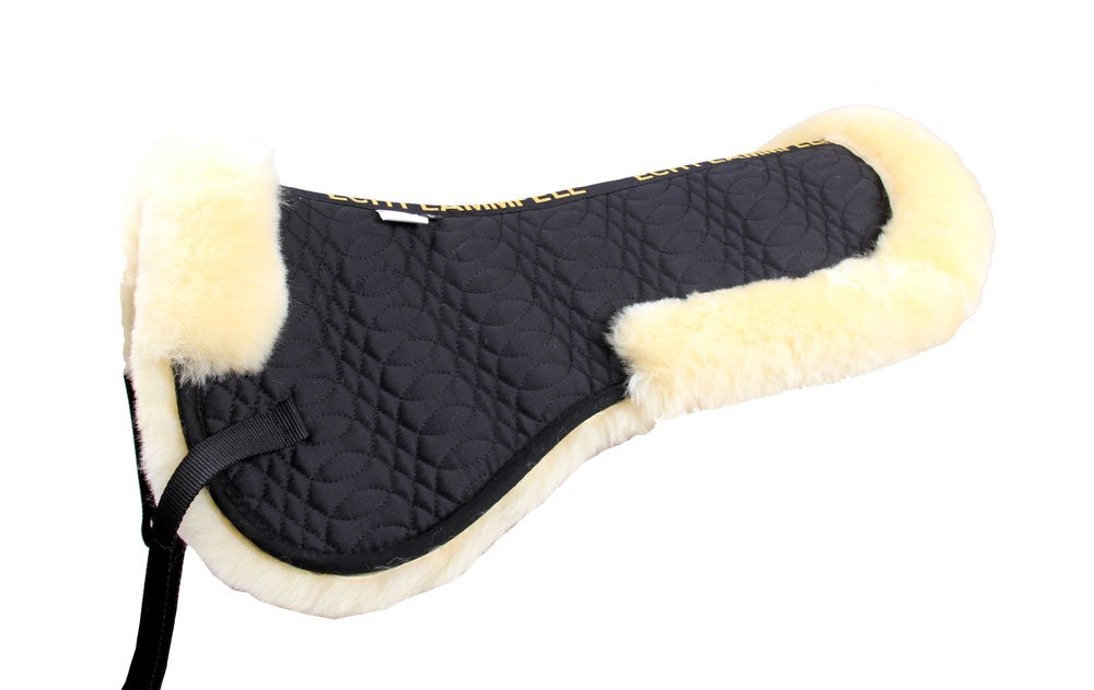 Merauno Sheepskin Half Pad Lamb Skin Half Pad Fully Lined Saddle Pad Horse Half Pad Natural