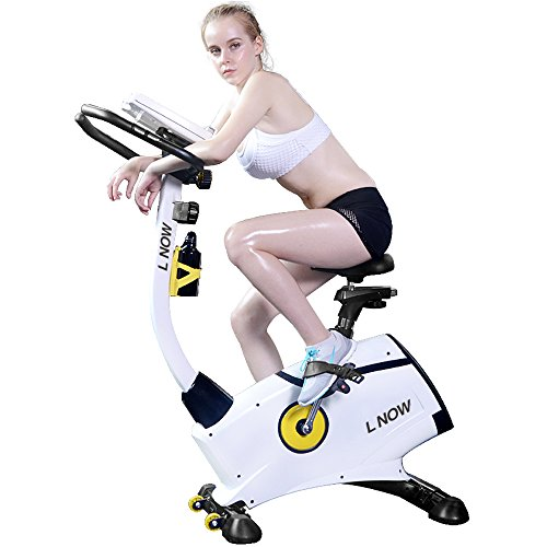 L Now Upright Bike Indoor Exercise Bike D808 – Magnetic Resistance Smooth Quiet