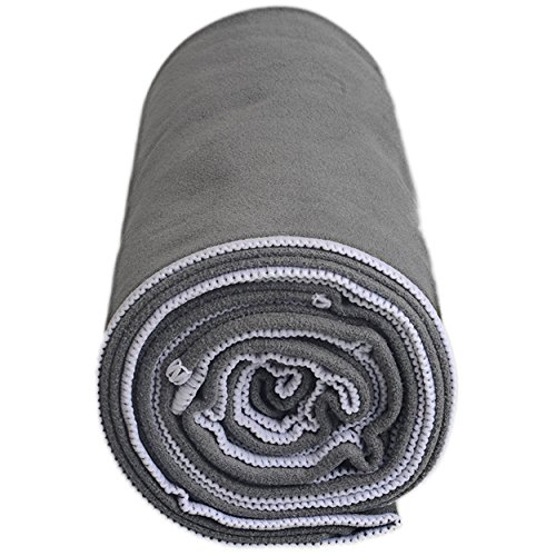 Shandali Gosweat Hot Yoga Towel, Color Gray, Size 26.5 x 72