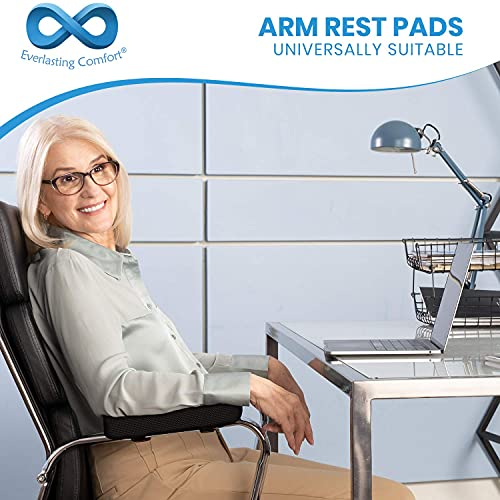 Everlasting Comfort Arm Rest Pillow - Office Chair Armrest Cover Pads for Desk Chair (Set of 2)