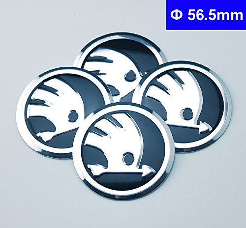 4pcs D023 56.5mm Emblem Badge Sticker Wheel Hub Caps Centre Cover Skoda Octavia Fabia Superb Rapid Yeti