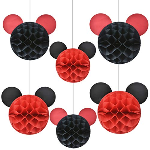 (Mickey Mouse Party Supplies Mickey Themed Honeycomb Balls for Micky Mouse Party)