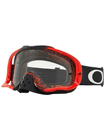 a8c842b281 Amazon.com  Oakley Crowbar MX Distress Taglinered Men s Dirt Off-Road  Motorcycle Goggles Eyewear - Purple Clear   One Size Fits All  Automotive
