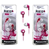 Panasonic RP-HJE120 ErgoFit In-Ear Headphones Stereo Earbuds (2-Pack, Pink), Best Gadgets