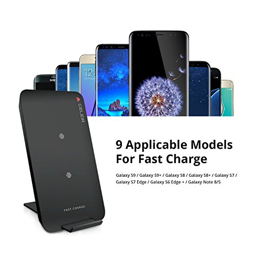 Celeir Wireless Charger with 2 Coils 10W from Wireless Charger for Samsung Galaxy Phones and Standard Charge for iPhone 8 iPhone X and All Other Wireless Charger Supported Phones - Fashion by Celeir