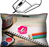 MSD Mouse Wrist Rest Office Decor Wrist Supporter Pillow design: 30409051 School supplies on table