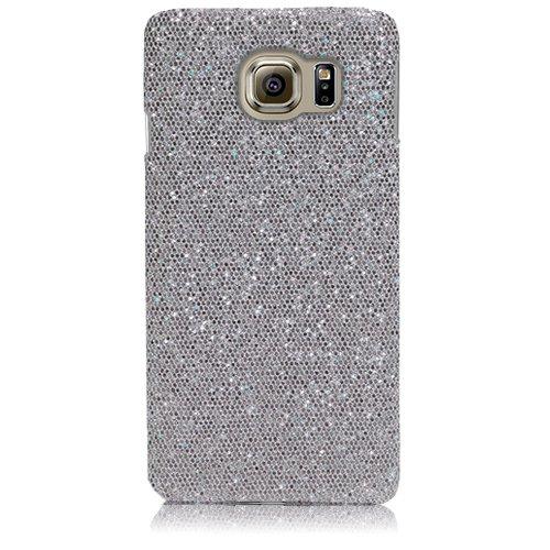 Xtra-Funky Serie Samsung Galaxy S6 brillantes caso del brillo Arco Iris chispeante de lentejuelas del brillo - Púrpura Plata